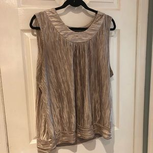 Gold pleated blouse